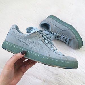 Puma Powder Blue Suede Sneakers